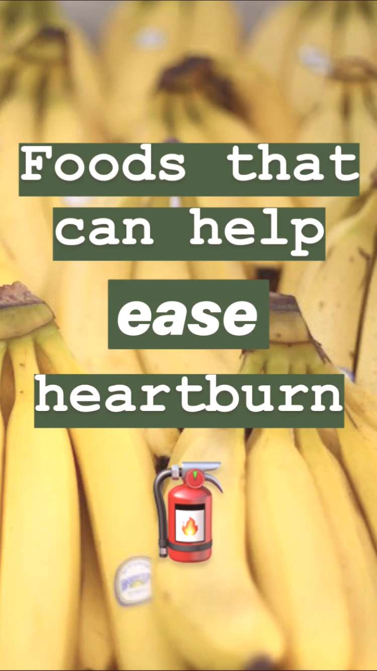 11 foods that can help to ease or prevent heartburn