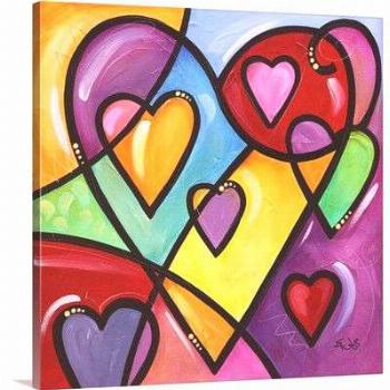 Canvas On Demand 'A lot of heart II' by Eric Waugh Painting Print on Canvas Size: 30