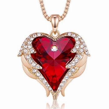 CDE Angel Wing Mom Necklaces for Women Jewelry Gifts Pendant