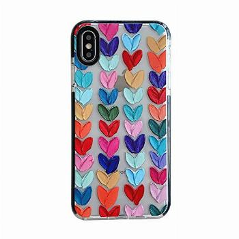 Color Mix Drawing Loving Heart Clear Case for Apple iPhone