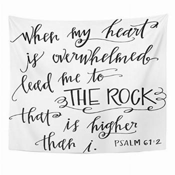 Emvency Tapestry My Rock Quote Heart Home Decor Wall Hanging