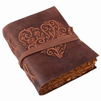 Large Leather Journal for Women - Vintage Leather Bound