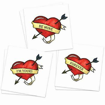 Love Heart Temporary Tattoos (Pack of 6)   Valentine's