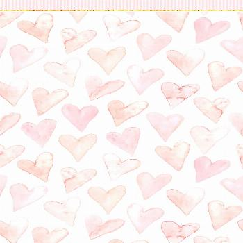 Phone Wallpapers HD Cute Pink Hearts with golden details - by BonTon TV - Free Backgrounds 1080x192