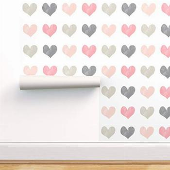 Spoonflower Peel and Stick Removable Wallpaper, Watercolor