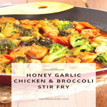 Stir fry and garlic are staples around here. This honey garlic chicken stir fry with broccoli & car