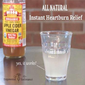 This all natural heartburn remedy will give you instant heartburn relief. You only need two ingredi