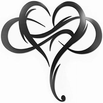 ViveGate Infinity Heart Metal Wall Decor, Unique Infinity