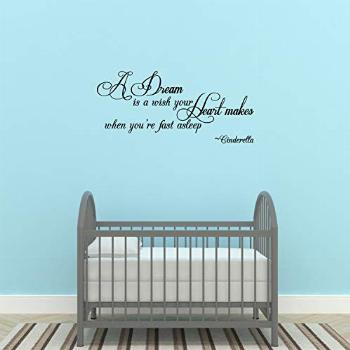 WallDecalQuote A Dream is Wish Your Heart Makes Vinyl Decor