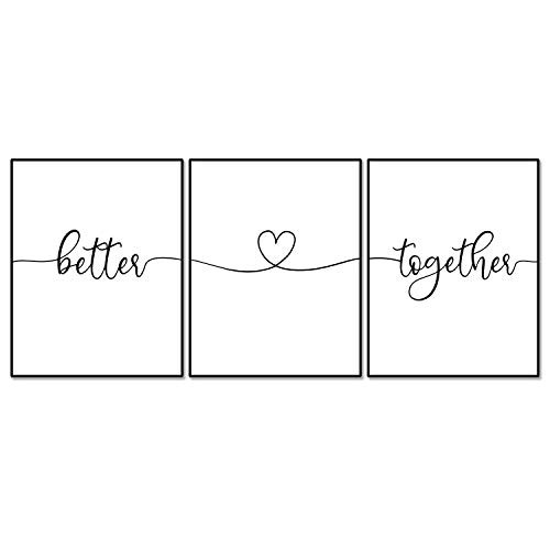 Better Together Heart Wall Decor Above Bed Wall Art
