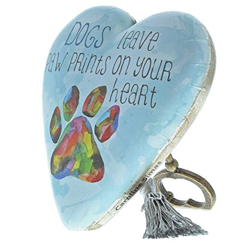 DEMDACO Dogs Leave Paw Prints On Your Heart Rainbow Sky Blue