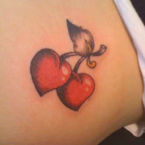 Heart Tattoo Designs - Cherry Hearts - Best Heart Tattoos For Women - Cute Designs and Ideas For Ha