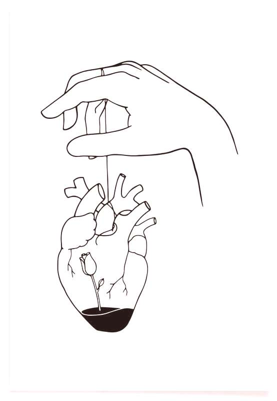 How Can You Mend a Broken Heart as Poster by Ninhol | JUNIQE