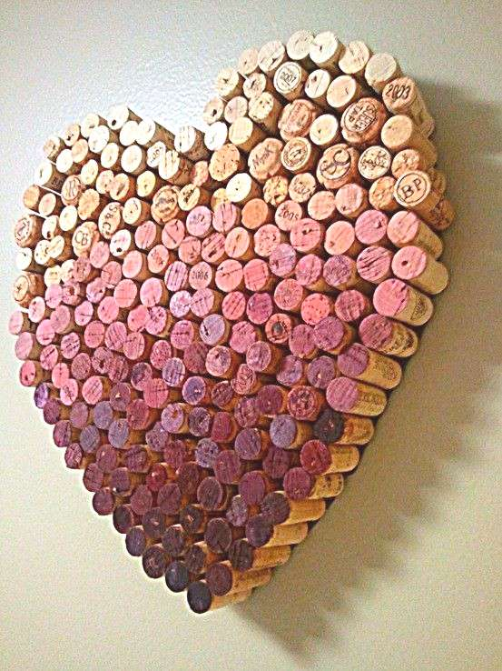 Make some 3D ombre wall art. | 37 Insanely Creative Things To Do With Popped Corks I personally lov