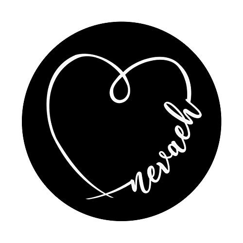 Nevaeh Name Minimalistic Heart Calligraphy Pretty Drawing