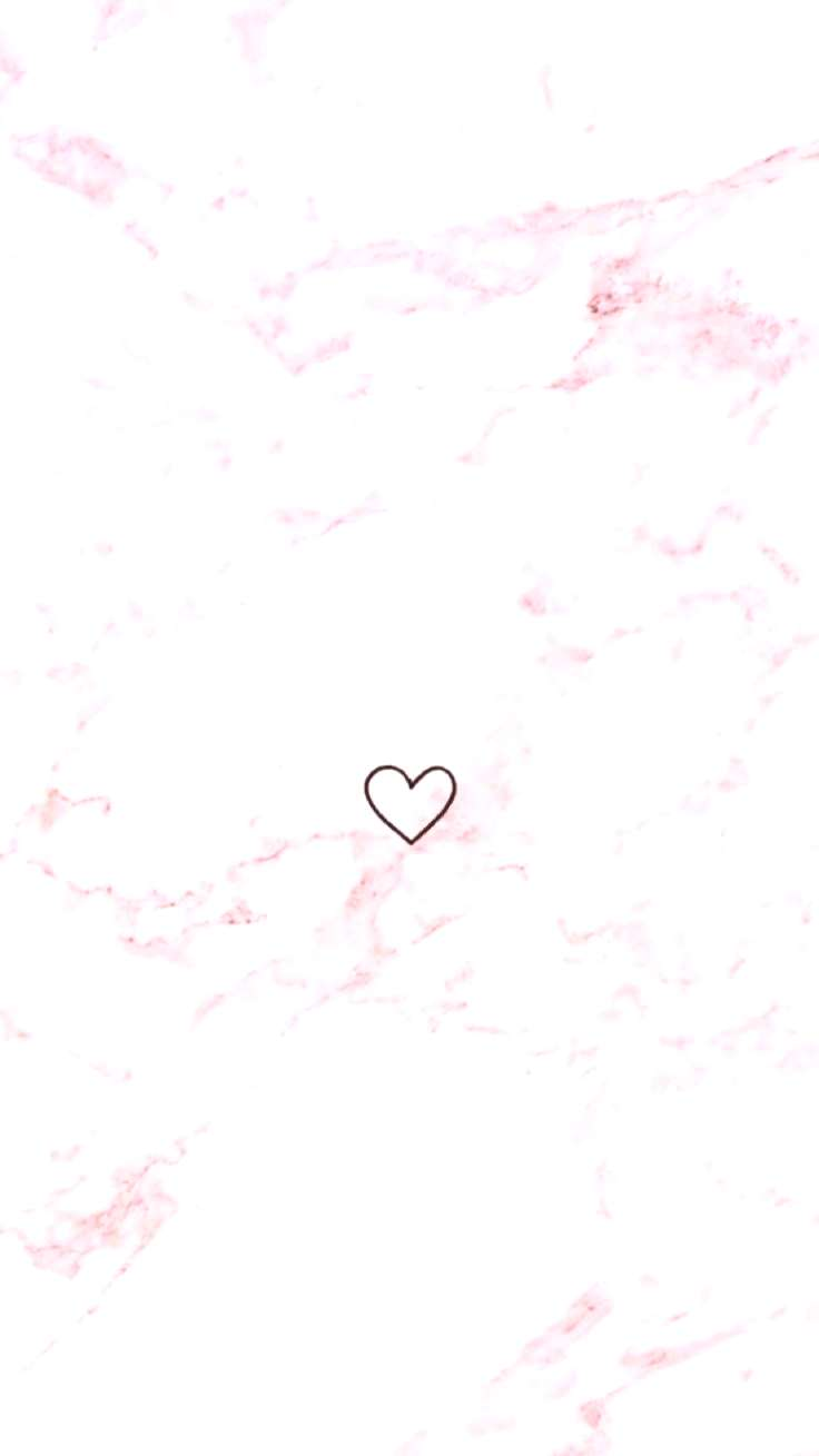 Pink marble with heart - -