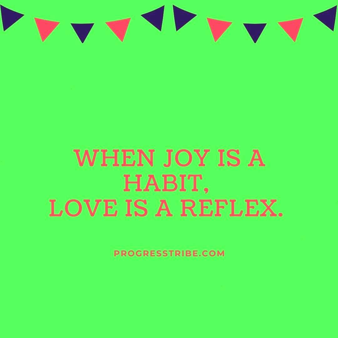 to put on joy daily so I can love others better.  Follow us today and get your daily motivation.  I