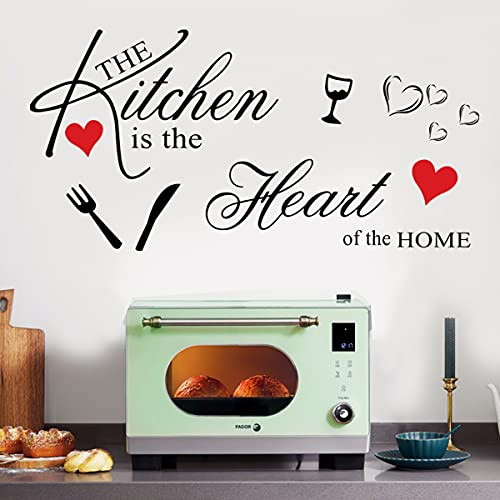 Vinyl Wall Sticker Quotes The Kitchen is The Heart of The
